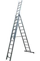 Лестница ELKOP VHR Hobby 3x12 алюминиевая, 3 секции, 12 ступеней, фото 1