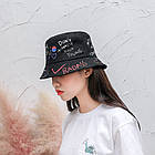 Панама Bucket Hat City-A с надписями Various WTF Черная, фото 3