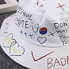 Панама Bucket Hat City-A с надписями Various WTF Белая, фото 3