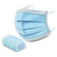 Маска медична захисна тришарова (упаковка 50 шт)