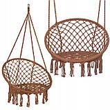 Подвесное кресло-качели (плетеное) Springos SPR0023 Braun, фото 2