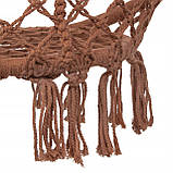 Подвесное кресло-качели (плетеное) Springos SPR0023 Braun, фото 3