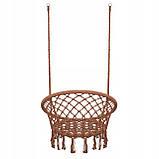 Подвесное кресло-качели (плетеное) Springos SPR0023 Braun, фото 4