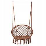 Подвесное кресло-качели (плетеное) Springos SPR0023 Braun, фото 5