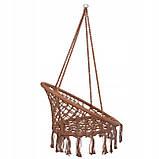 Подвесное кресло-качели (плетеное) Springos SPR0023 Braun, фото 7