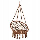 Подвесное кресло-качели (плетеное) Springos SPR0023 Braun, фото 8