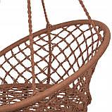 Подвесное кресло-качели (плетеное) Springos SPR0023 Braun, фото 9