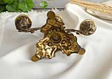 Винтажный бронзовый подсвечник на три свечи, канделябр, бронза, Италия, фото 9