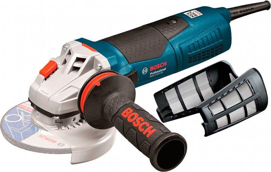 Болгарка Bosch Professional GWS 17-125 CIE с пылезащитным фильтром (060179H002F)