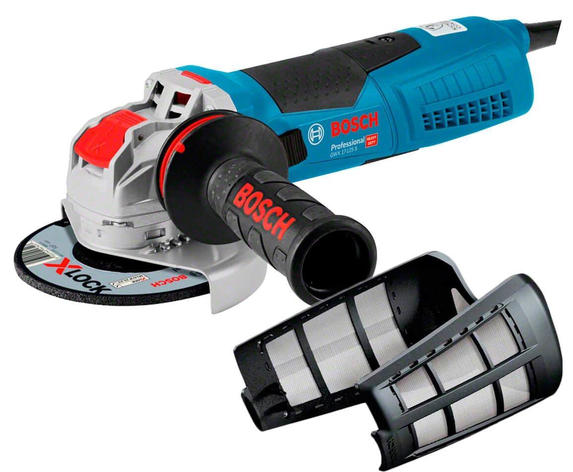 Угловая шлифмашина Bosch Professional GWX 17-125 S + пылезащитный фильтр (06017C4002F)