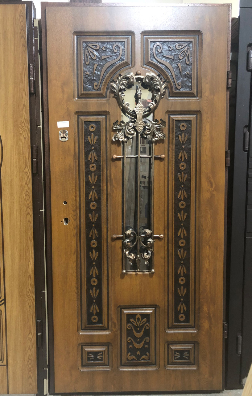 Двері  МОД №804 /96*2,05/ ВІП ПЛЮС/ПВХ-90+патина/ПРАВА***+РАМА(2)