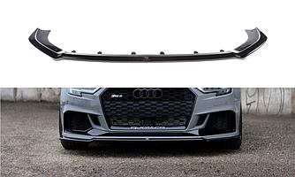 Элерон Audi RS3 8V Sedan тюнинг обвес диффузор сплиттер (V2)