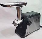 Мясорубка электрическая 3000 Вт domotec с реверсом, электромясорубка с насадкой для колбасы и сока, фото 7