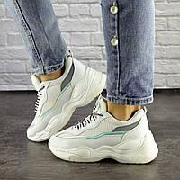 Женские белые кроссовки демисезонные 1496, фото 1