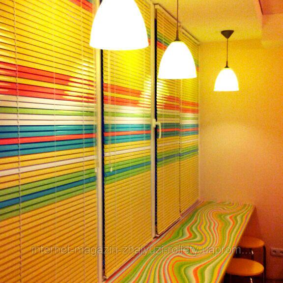 Горизонтальные алюминиевые цветные жалюзи