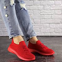Женские красные кроссовки текстиль Stella 1577, фото 1