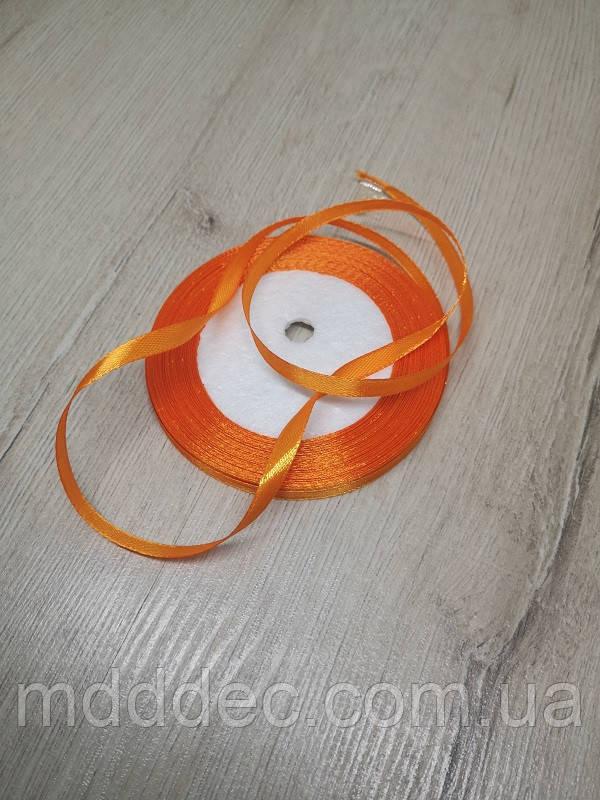 Лента атласная оранжевый цвет 0,5 см