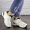 Женские кроссовки белые с черным Kuma 1665