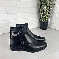 Мужские ботинки зимние из натуральной кожи, внутри натуральная шерсть 45 размер, фото 1