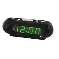 Часы с будильником электронные VST 716 дисплей с зеленой подсветкой цифр