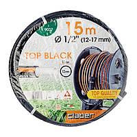 """Шланг для полива Claber Top-Black 9037, 15 м 1/2"""" черный"""