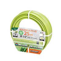 """Шланг для полива Claber Aquaviva Plus 9004, 25 м 1/2"""" зеленый"""