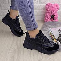 Женские стильные кроссовки Ella темно синие 38 размер 1096, фото 1