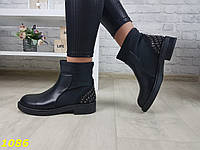 Ботинки челси демисезон на низком ходу черные sp-1086, фото 1