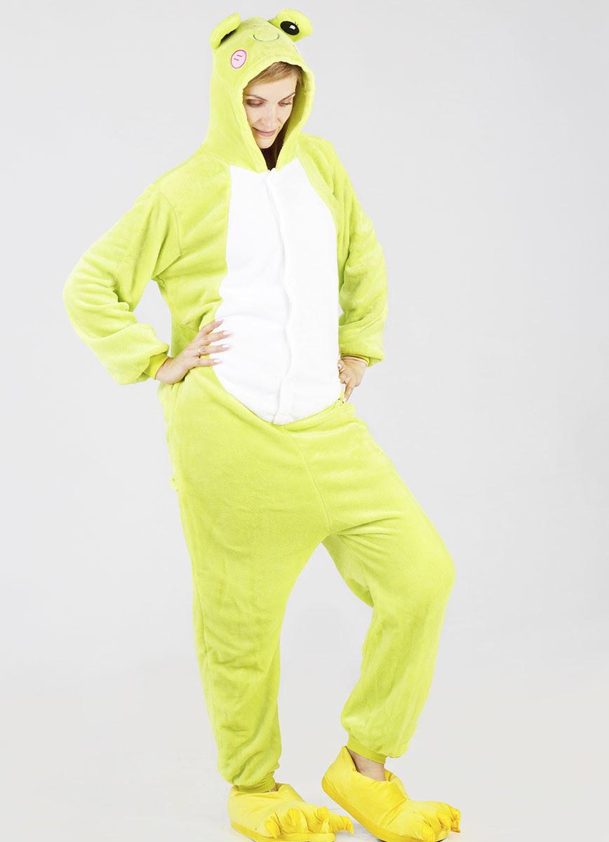 Пижама кигуруми женская и мужская Лягушка S (150-160см)
