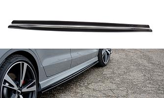 Пороги Audi RS3 8V Sedan тюнинг обвес губа сплиттер