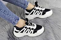 Женские черно-белые кроссовки 36 размер - 22,5 см 1167, фото 1