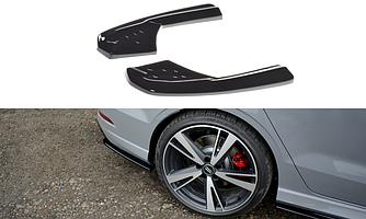 Боковые клыки Audi RS3 8V Sedan тюнинг обвес диффузор заднего бампера