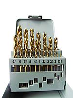 Набор сверл по металлу VULKAN HSS TiN (1-10мм, 19шт)