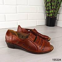 """Босоножки женские, коричневые """"Murda"""" эко кожа, сабо женские, открытые туфли женские, фото 1"""