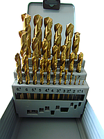 Набор сверл по металлу VULKAN HSS TiN (1-13мм, 25шт)