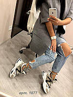 Кроссовки  Balensiaga белая шнуровка код 22018, фото 1