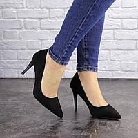Туфли женские лодочки на шпильке черные 36 размер - 23 см 1594