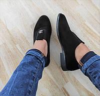 Туфлі чорні жіночі екозамша 39
