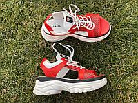 Женские спортивные босоножки красные натуральная кожа код 2784К, фото 1