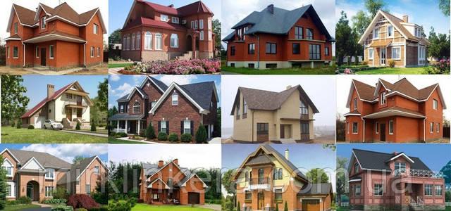 Фасады домов из облицовочного кирпича