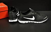 Кроссовки мужские черные Nike Free Run 3.0 текстиль код 20804, фото 1