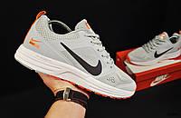 Кроссовки мужские серые с рефлективными вставками реплика Nike Zoom Pegasus 31 текстиль код 20801, фото 1
