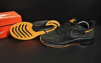 Кроссовки мужские черные с оранжевым реплика Nike Zoom Air текстиль код 20798, фото 1