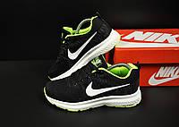 Кроссовки женские черные с салатовым реплика Nike Zoom Flykit Max текстиль код 20782, фото 1