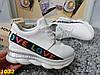 Сникерсы кроссовки белые с танкеткой на платформе 41 размер (стелька 25,5 см)