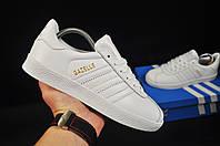 Кроссовки женские белые реплика adidas Gazelle код 20732, фото 1