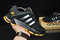 Кроссовки черные с оранжевым реплика Adidas Fast Marathon текстиль код 20719, фото 1