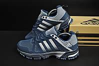 Кроссовки мужские синие с серым Adidas Fast Marathon текстиль 44 размер (стелька 28 см) код  20716, фото 1