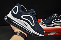 Кроссовки мужские темно синие реплика Nike Air Max 720 текстиль код 20689, фото 1