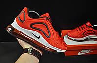 Кроссовки женские красные реплика Nike Air Max 720 текстиль код 20687, фото 1